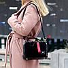 Модна чорна замшева сумка кроссбоди натуральна замша широкий ремінь через плече, фото 5
