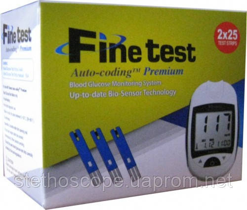 Глюкометр Finetest Auto-coding Premium + 25 тест-полосок (без ручки прокалывателя)