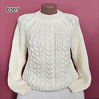 Красивий жіночий теплий светр Oversize турецького виробництва, фото 1
