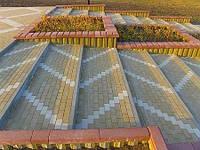 Тротуарная плитка Мариуполь, ФЭМ прессованная, пропаренная, кирпичик