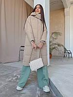 Куртка демісезонна довга на блискавці, фото 1