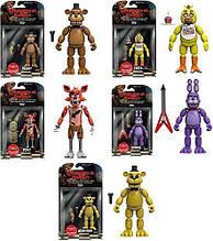 Набір 5 фігур Five Nights at freddy's. Freddy, Chica, Foxy, Bonnie, Gold Freddy Оригінал з США Funko