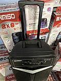Портативная колонка Kimiso QS-1265 Bluetooth, с микрофоном для караоке, FM радио, MP3, пультом, фото 6