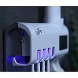 Ультрафіолетовий стерилізатор зубних щіток з дозатором зубної пасти, фото 5