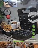 Електрична горішниця притискна вафельниця на 24 горішка DSP KC1154 1400W, фото 3