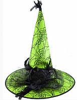 Капелюх карнавальний Ковпак відьми з чорною трояндою різні Кольори 2348, 2349, 2350