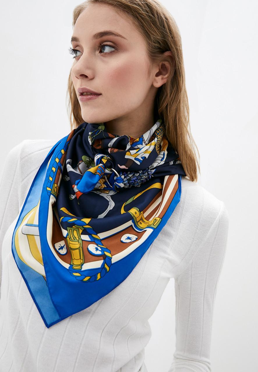 """Дизайнерский платок """"Роковая ночь"""" от бренда MyScarf, подарок женщине"""