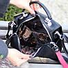 Модельна чорна замшева сумка кроссбоди натуральна замша через плече, фото 6