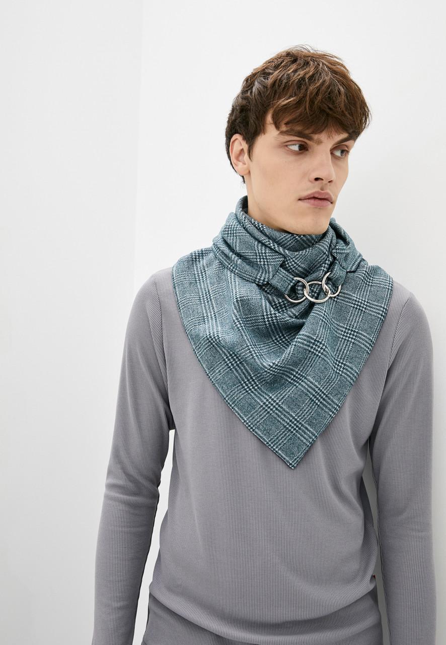 """Шарф-бактус """"единбург"""", шарф-снуд, великий шарф, теплий чоловічий шарф, подарунок чоловікові"""
