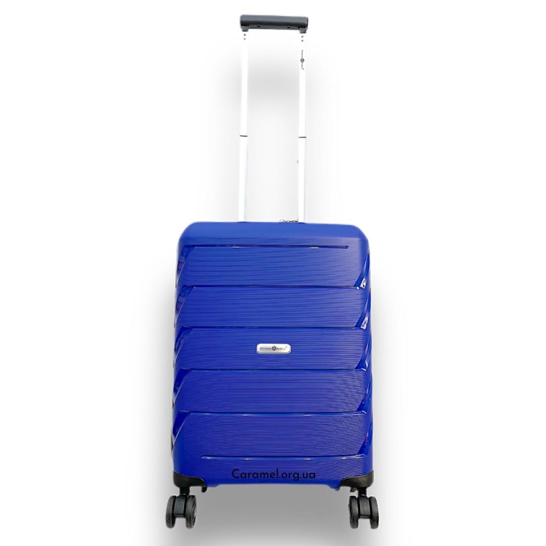 Чемодан полипропилен Франция большой S : 55*37*20 см / 2,3 кг / 36 л Snowball 92803 синий
