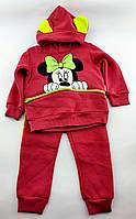Спортивный костюм детский 2, 3, 4 года Турция теплый для девочки трикотажный розовый (КДМ73), фото 1