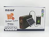 Якісне Радіо на сонячній батареї Meier M-521BT-S, фото 3