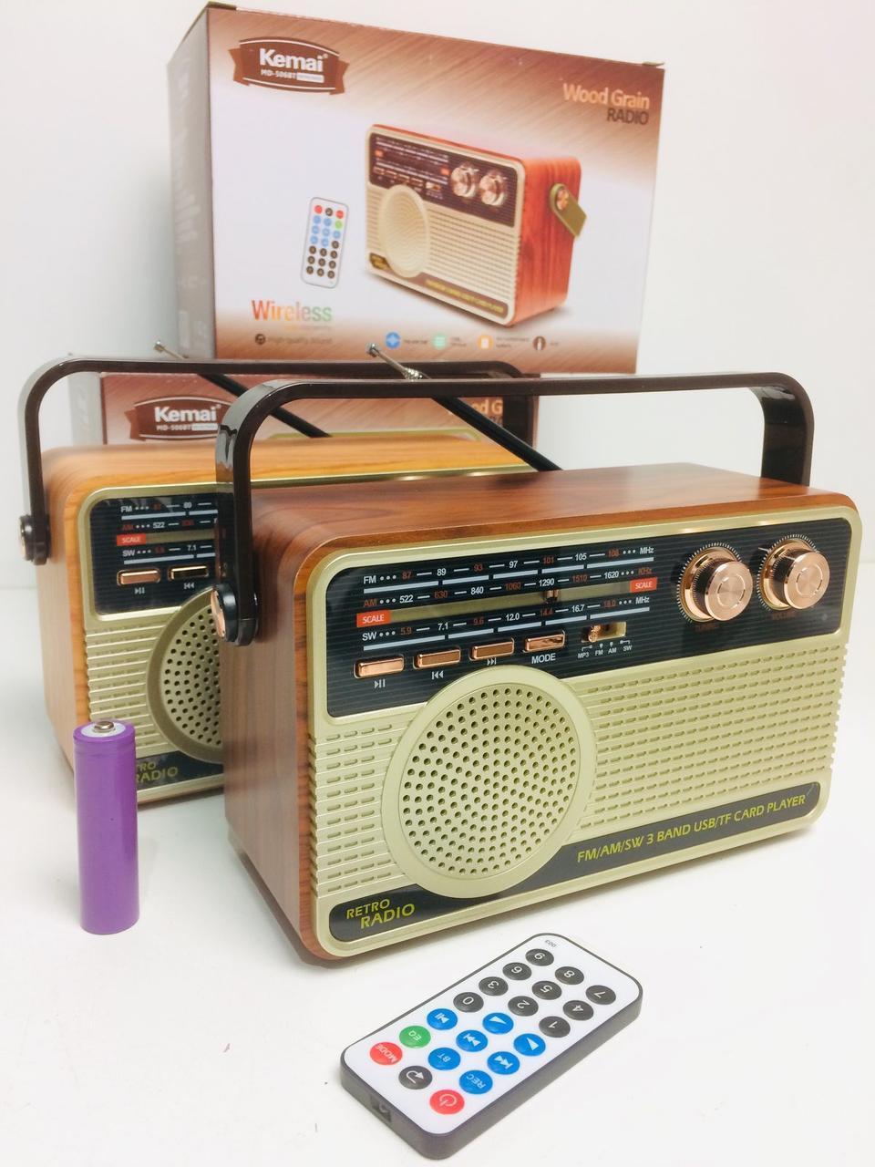 Радіоприймач Kemai Retro MD-506 BT акумуляторний + пульт ДУ