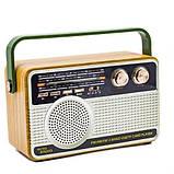 Радіоприймач Kemai Retro MD-506 BT акумуляторний + пульт ДУ, фото 2