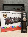 Автомагнітола знімна панель Блютуз 1DIN USB Bluetooth AUX micro SD, фото 5