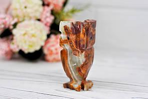 Сова из натурального камня оникс, 7.5 см