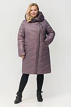 """Зимнее женское пальто с мехом ArDi """"Сиена"""", лаванда"""