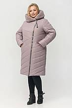 """Зимнее женское пальто с мехом ArDi """"Сиена"""", пудра"""