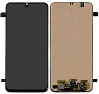 Дисплей для Samsung Galaxy A40s A3050, A407, модуль в зборі, з рамкою - панеллю, рожевий, OLED