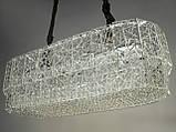 Кришталева люстра овальної форми для вітальні 6625-800x300HR, фото 2