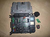ЭБУ (комплект) (16V 1,6 HDI) Citroen Berlingo 2 08-12 (Ситроен берлинго), 9664843780