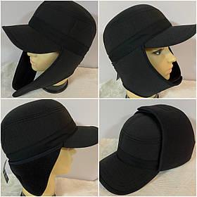 Німкеня чоловіча чорна і камуфляжна з плащової тканини з вушками розмір 57-58 59-60