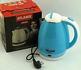 Електричний чайник ATLANFA AT-H01 дисковий з підсвічуванням 2.0 L 1800W Різні Кольори!, фото 2