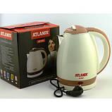 Електричний чайник ATLANFA AT-H01 дисковий з підсвічуванням 2.0 L 1800W Різні Кольори!, фото 3