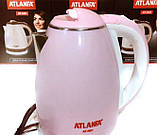 Електричний чайник ATLANFA AT-H01 дисковий з підсвічуванням 2.0 L 1800W Різні Кольори!, фото 4