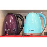 Електричний чайник ATLANFA AT-H01 дисковий з підсвічуванням 2.0 L 1800W Різні Кольори!, фото 8