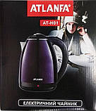 Електричний чайник ATLANFA AT-H01 дисковий з підсвічуванням 2.0 L 1800W Різні Кольори!, фото 9