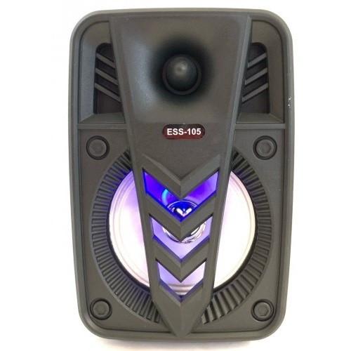 Колонка міні-валіза USB, SD, FM, AUX, Bluetooth зі світломузикою ESS-105