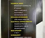 Колонка міні-валіза USB, SD, FM, AUX, Bluetooth зі світломузикою ESS-105, фото 5