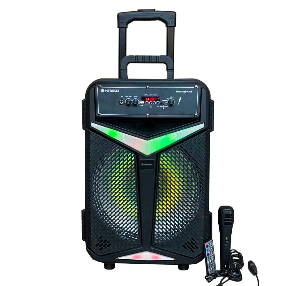 Портативная колонка Kimiso QS-1265 Bluetooth, с микрофоном для караоке, FM радио, MP3, пультом