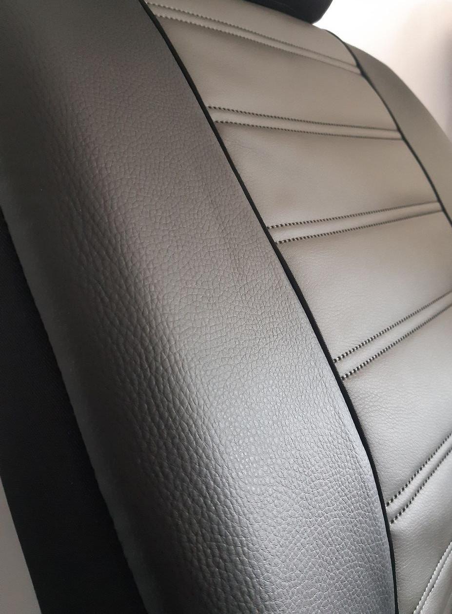 Авточохли універсальні (повний набір) Pok-ter Forced P5 з екошкіри сірий
