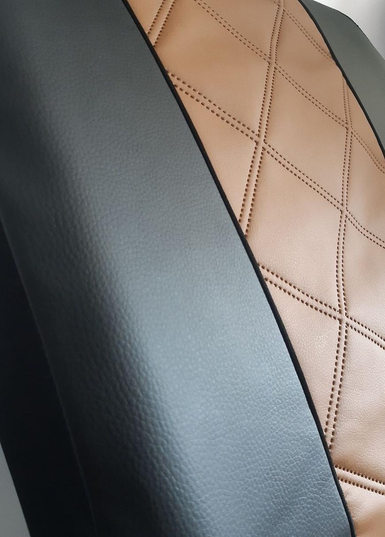 Авточохли універсальні (повний набір) Pok-ter Forced K3 з екошкіри коричневий