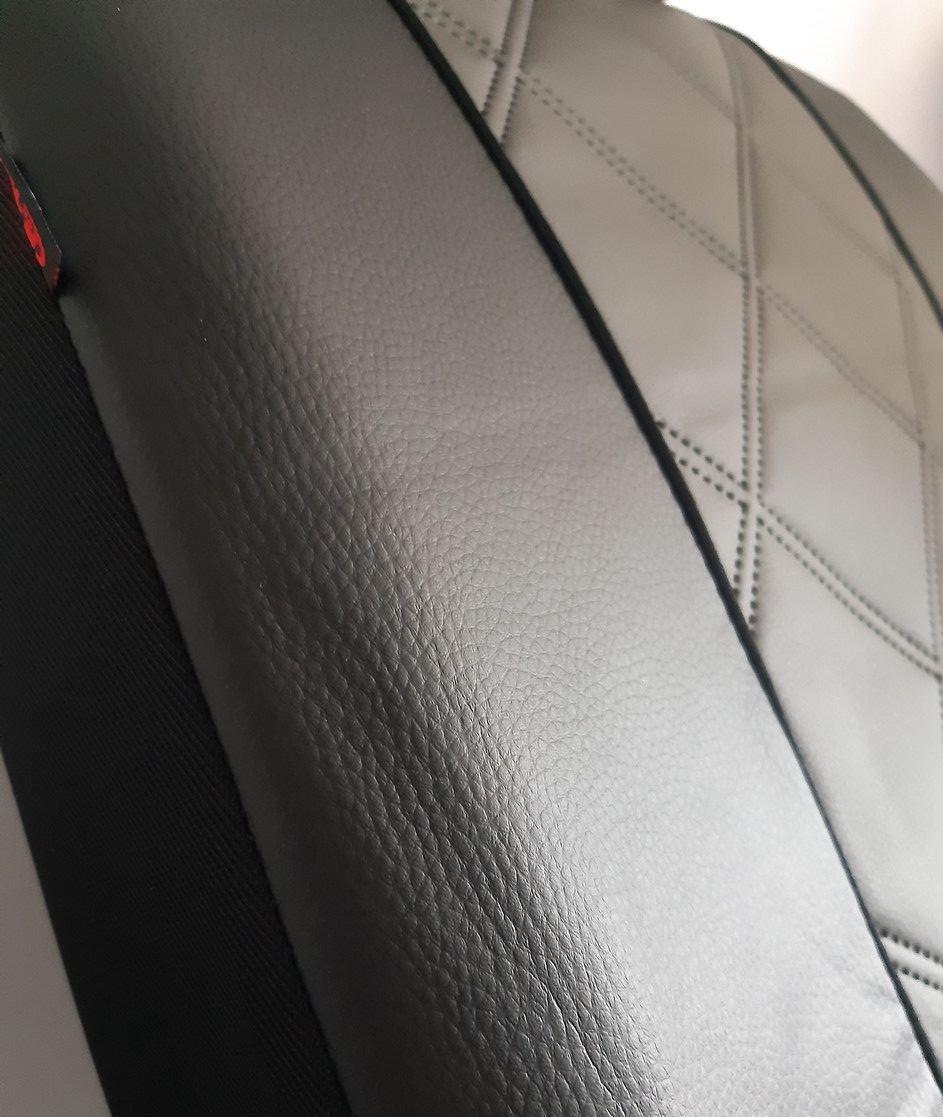 Авточохли універсальні (повний набір) Pok-ter Forced K5 з екошкіри сірий