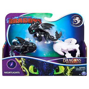 Как приручить дракона 3: игровой набор Малыши драконы Ночного Сияния Spin Master