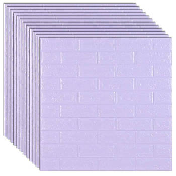 Декоративная 3Д-панель стеновая светло-фиолетовый кирпич 700x770x5мм (самоклеющаяся 3d панель для стен)