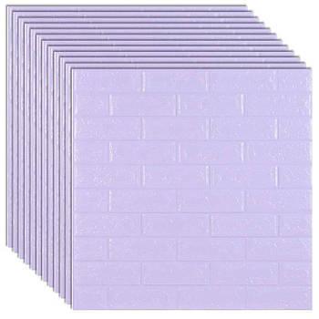 Самоклеюча декоративна 3D панель під світло-фіолетовий цегла 700х770х5мм (самоклейка, М'які 3D Панелі)