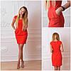 Женское нарядное платье с коротким рукавом