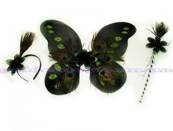 Набор павлина: крылья, обруч, палочка 6098-7_T105