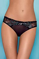 Черные трусики с кружевными вставками Obsessive Amanta panties