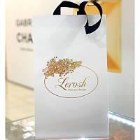 Подарочный белый картонный пакет для розы в колбе Lerosh 27 см (18*19*28,5 см)