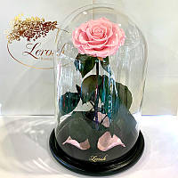 Розовая роза в колбе Lerosh - Lux 33 см