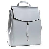 Женский рюкзак кожаный серого цвета А. Rai городской рюкзак для учебы, работы из натуральной кожи