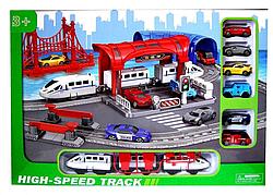 """Залізниця 888-6 (12) """"Експрес"""", поїзд, 6 машин, в коробці"""