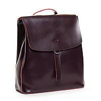Жіночий шкіряний рюкзак бордового кольору Аlex Rai рюкзак для міста, прогулянок із натуральної шкіри