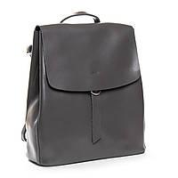 Жіночий шкіряний рюкзак сірого кольору Аlex Rai рюкзак для міста, прогулянок із натуральної шкіри