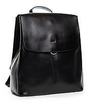 Жіночий шкіряний рюкзак чорного кольору Аlex Rai рюкзак для міста, прогулянок із натуральної шкіри